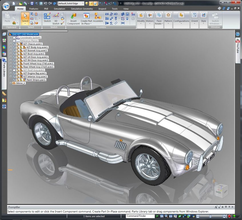 A 3D CAD model